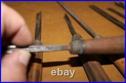 10 Vintage Wood Carving Chisels Various Makes