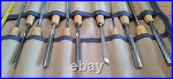 11 Swiss Made Professional Wood Carving tools with tool roll