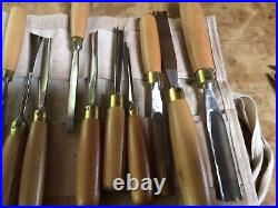 14 piece Ashley Iles wood carving set razor Sharp, hard to find in the USA