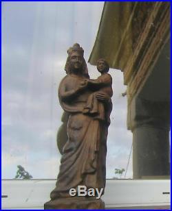 16+ Virgin Mary Child Jesus Sculpture Madonna child Christ Statue Wood Carving