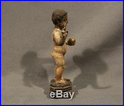 17th Centruy Religious Roman Catholic Baby Jesus Wood Carving