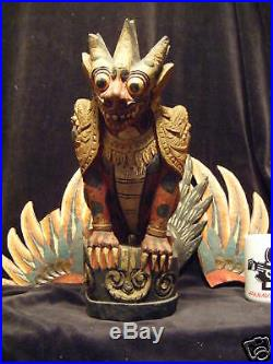 18.5(47 cm) Traditional Balinese Wood Carving Guardian