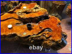 180 cm Chinese Thuja sutchuenensis root carving wood Kung Fu tea table Service