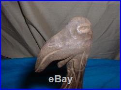 1930's TED SEUSS GEISEL ORIGINAL HAND CARVED WOOD BIRD SCULPTURE DR. SEUSS