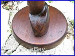 1950's Mid-Century Modern Sculptural Carved Wood Table Lamp