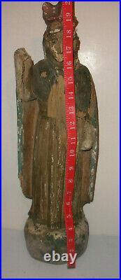 20 Antique Spanish Santos 17/18th carved wood Saint Sculpture figure museum