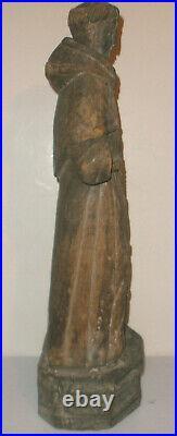 23 Antique Spanish Santos 17/18th carved wood Saint Sculpture figure museum