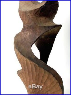 23 Vintage Mid Century Modern Abstract Biomorphic Hand Carved Wood Sculpture