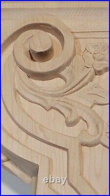 26 Handcarved Maple Corbel Bracket Leaf & Berry Design Carving