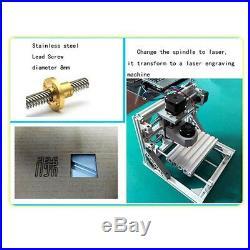3 Axis Engraver Machine Milling Wood Plastic Soft-Metal Carving Engraving Kit