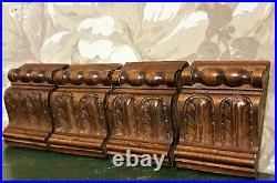4 Acanthus leaf wood carving corbel bracket antique french architectural salvage