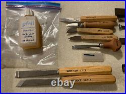 42 Pieces All Pfeil Swiss Made Wood Carving Tools. See description for sizes