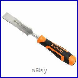 4Pcs Wood Chisel Set Hand Carving Woodworking Gouge Tool Chrome Manganese Blades