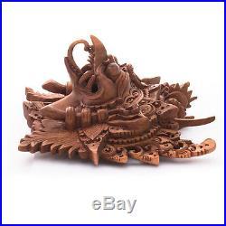 8.5 GARUDA BALI BARONG WOOD MASK God EAGLE protector carving Wall decor