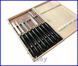 8pc Wood Chisel Set Hss Wood Carving Turning Stew Gouge Parting Rdgtools