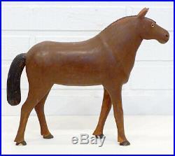 ANTIQUE Vintage OUTSIDER TRAMP FOLK ART Primitive CARVED WOOD HORSE Sculpture