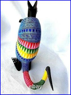 ARMADILLO Alebrije Standing Hand Crafted Oaxacan Wood Carving Oaxaca Mexico