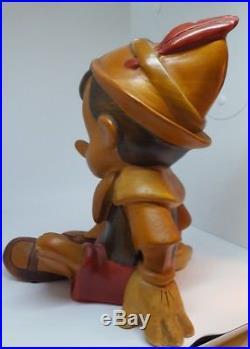 ASIS LRG Vintage Antique Walt Disney Pinocchio Wood Carving Sculpture Statue