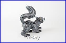 Alebrije Fox Oaxacan Wood Carving Mexican Folk Art Gray Handcrafted Sculpture