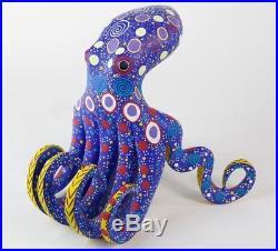 Alebrije Octopus Oaxacan Wood Carving Mexican Folk Art Handcrafted Sculpture