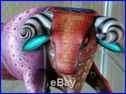 Alebrije de Oaxaca Mexican Folk Art Decor & Wood Carving Alebrije Bull Sculpture