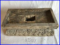 Amazing Antique Lifesize Tibet India Carved Wood Temple Sculpture God REDUCED