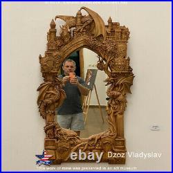 Amazing Wood CarvingFrame and mirror Game of ThronesDzoz Art museum