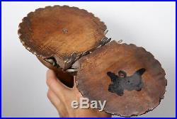 Antique Carved Wood Cherub Wall Brackets Fine Oak Angel Putti Sculptures