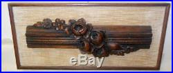 Antique French Carving Wood Hand Carved BOISERIE Rococo Sculpture Framed Villa