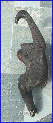 Antique Japanese Wood Carving Of A Macaque Monkey