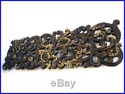 Antique Kanok Flower Branch Carved Wood Home Wall Panel Decor Art Statue gtahy