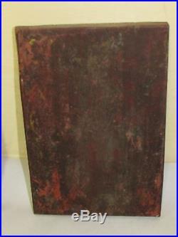 Antique Oriental Tibetan Wood Carving Sculpture Panel 2 pieces