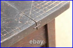 Antique Primitive Wooden Chairs Stools Bench Seat Master's Carving Rustic 19th