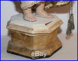 Antique Religious Sculpture Child Jesus Wood Carved Mid-19th-century