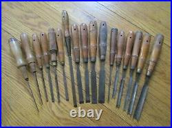 Antique Woodworking Woodcarving Tools -17 Carving Chisels Buck Bros