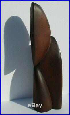 Archipenko Style Wood Carving Cubist Cubism Large Head Face Modernism Vintage