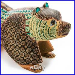 BEAR Oaxacan Alebrije Wood Carving Mexican Folk Art Sculpture Nestor Melchor