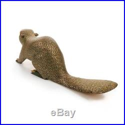 BEAVER Oaxacan Alebrije Wood Carving Mexican Art Animal Sculpture Painting