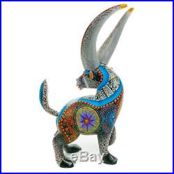 BLACK GOAT Oaxacan Alebrije Wood Carving Mexican Art Animal Sculpture Painting