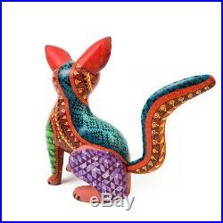 BROWN DOG Oaxacan Alebrije Animal Wood Carving Mexican Folk Art Sculpture
