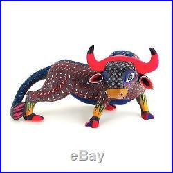 BULL Oaxacan Alebrije Wood Carving Handcrafted Fine Mexican Folk Art Sculpture