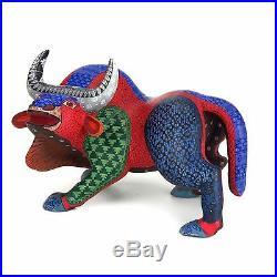 BULL Oaxacan Alebrije Wood Carving Handcrafted Mexican Folk Art Sculpture