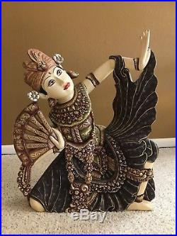 Balinese-Goddess-Legong-Dancer-Statue-Carving-Sculpture-Carved-Wood-Bali-Art