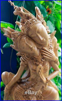 Balinese Rama Sinta Sita Sculpture Love Bali Art hand Carved Wood Statue 15