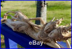 Balinese Rama Sita Lovers Hand Carved Wood Sculpture Bali Art
