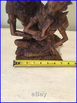 Balinese Rama Sita Lovers Sculpture Hand Carved Wood Bali Art