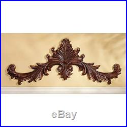 Baroque Architectural Hand Carved Wood Pediment Wall Décor