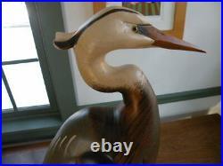Big Sky Carvers Blue Heron Carving