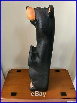 Big Sky Carvers Jeff Fleming Black Bear Wood Carving Harold Jr. Bear Sculpture