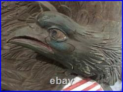 Boston Artistic Carving Company Louisberg-Style 42 Carved Wood Bellamy Eagle